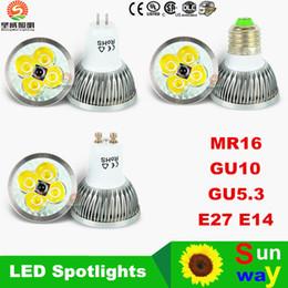 Wholesale High Power Cree 3x3w - High power CREE 9W 3x3W LED Spotlight Dimmable GU10 Bulb MR16 E27 E14 B22 Led Bulb Lamp Spot light led downlight led lighting