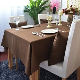 Argentina Algodón manteles de fiesta Europa mantel sólido para decoraciones de la boda gris púrpura rojo mesa de centro corredor funda de almohada Suministro