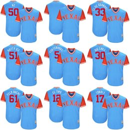 Wholesale Blue Bushes - Wholesale Adults Ladys Youth Toddlers Texas Rangers Keone Kela Martin Perez Matt Bush Mike Napoli Blue 2017 Players Weekend Baseball Jersey