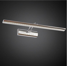 sconces de aço inoxidável Desconto luzes conduzidas da vaidade dos sconces da parede do banheiro da luz do espelho aço inoxidável montadas acima da lâmpada de parede smd5050 5w / 7w / 9w / 15w