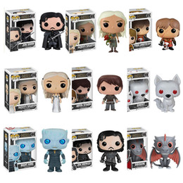 Wholesale role games - Funko Pop Figures Game Of Thrones Jon Snow Action Figure Great Quality In Stock game of thrones Anime Doll ornaments