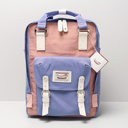 Wholesale Luxury School Bags - Super Quality Doughnut Nylon Waterproof Backpack Luxury Girl's School Bag Vintage Travel Bags Men's Fashion Laptop Backpacks With 13 Colors
