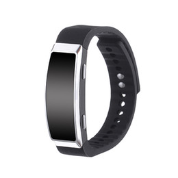 Wholesale Record Free Music - Free Shipping Wholesale 8GB Digital Voice Recorder Wristband Bracelet USB WAV Dictaphone Rechargeable MP3 Music Player Recording