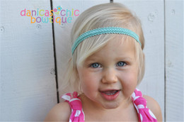 Wholesale Hand Made For Baby - New Baby Hand made Elastic bands For DIY Headbands Hairbands Loops Children Kids Head Bands Children seamless Hair Accessories KHA95