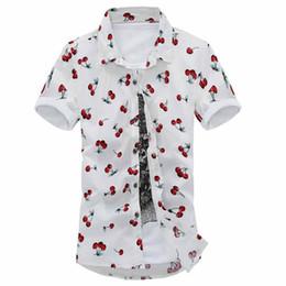 Wholesale Hawaiian Xl - Wholesale-2016 Fashion Mens Short Sleeve Hawaiian Shirt Plus Size M-7XL Summer Casual Floral Shirts For Men XK107