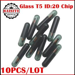 Wholesale Blank Chip Keys - High quality glass blank ID20 t5 transponder Chip 10pcs lot t5 id:20 transponder chip for CITROEN NISSAN HONDA FIAT BUICK VAG AUDI