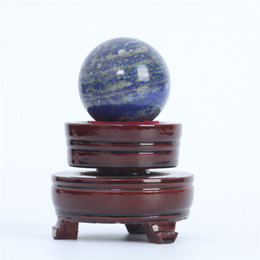 Wholesale Natural Crystal Ball Sphere - HJT 122g Wholesale Natural Lapis lazuli Gemstone Sphere ball Lapis lazuli healing sphere for sale Home Decorations small crystal ball 40mm