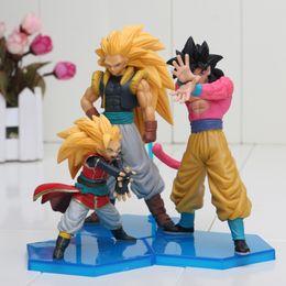 2019 drachenball helden 3 Teile / satz Dragon Ball Z Gt Sohn Goku Super Saiyan 4 PVC Action Figure Spielzeug Dragonball Heroes Dxf Vol. 3 Modell Freies Verschiffen rabatt drachenball helden