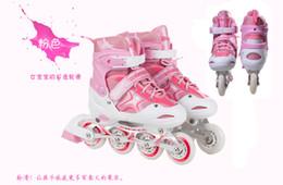 Wholesale Boys Suites - Children's full suite adjustable roller skates eight full flash boys and girls inline skates roller skates shipping