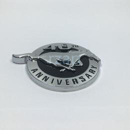 2psc / set Nouveau Style Pour Ford Mustang 40ème Anniversaire Cheval Courant Logo 3D Emblème En Métal Badge ? partir de fabricateur