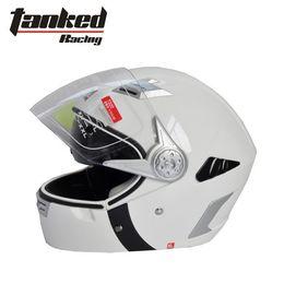 Wholesale Tanked Racing Open Face Helmet - Tanked Four seasons for 2 way model helmet Double lens racing motorcycle helmet Open Face helmet T220 M-XL (color white)