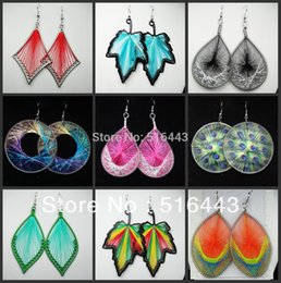 Wholesale Threading Earrings - Hot Sale 10Pairs Mix Style Fashion Yarn Thread Charms Weave Drop Earrings for Women Wholesale Jewelry Lots A-158