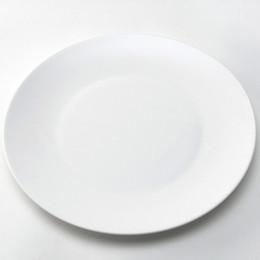 Wholesale White Ceramic Dinnerware - 10-Inch Factory Direct Sale Low Price White Dinner Plates Kitchenware Simple Style Plates Porcelain Round Dinnerware Salad Dessert Plates