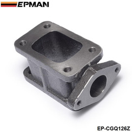 Flangia turbo online-EPMAN -T3 A T3 + 38mm Ghisa Wastegate Flangia Collettore Turbo Charge Adapter T3-T4 Adapter EP-CGQ126Z