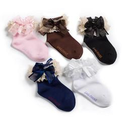 calzini bambino corea Sconti Corea Fashion Baby Socks Bambini Cotone Lacework Bowknot Ragazze Principessa Calze Eleganti calzini per bambini 11366