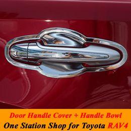 Wholesale Toyota Car Door Handle - 2014 2015 Toyota RAV4 RAV 4 ABS Chrome Door Handle Cover + Handle Bowl Trim Protective Decoration Car Styling Accessories