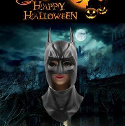 Wholesale Latex Movie Stars - Halloween costumes party props Batsman Halloween Masks Latex Party Caretas Movie Bruce Wayne Cosplay Props
