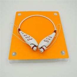 Wholesale Iphone Headphones Functions - S740T Sport Headphone Bluetooth Headset Wireless Earpiece V3.0 Bluetooth Headphone for Iphone Samsung TF Card FM Function Neckband