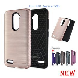 Wholesale Brushed Iphone Case - For HTC Desire 530 For Samsung galaxy Grand Prime G530 S7 edge J5 Armor Hybrid Brush carbon fiber Case TPU PC Brushed Cover