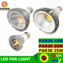 Wholesale Dimmable Led Track Lighting - Dimmable E27 Led Bulbs 10W 20W 30W CREE par20 par30 par38 Led Spot Lights Replace Led Track Lamp AC 85-65V CE ROHS UL