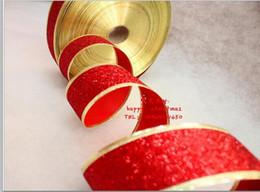Wholesale Ribbon 5cm - Christmas color ribbon onion powder Christmas red color ribbon ribbon bowknot ribbon 200*5cm diy ribbon chfistmas decorations