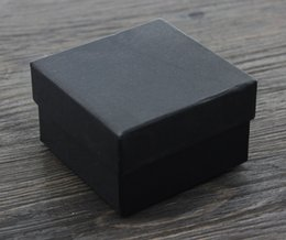 Wholesale Jewelry Packaging Bracelet Box Packing - [Simple Seven]Retail Solid Black Lovers Jewelry Box  Fashion Pedant Box  Necklace Package  Jewelry Brooch Case Trend Bracelet Packing