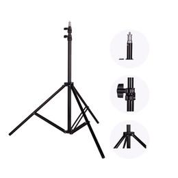 Wholesale Video Screw - Wholesale- Photo 2M(79in) Light Stand Tripod With 1 4 Screw Head For Photo Studio Softbox Video Flash Umbrellas Reflector Lighting