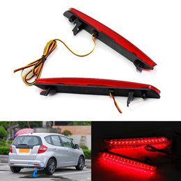 Wholesale Car Bumper Fogs - 2pcs Waterproof Red Rear Bumper Reflector Lamp Car LED Parking Warning Tail Lights Stop Fog Lamp fit for for Honda STEPWGN RG