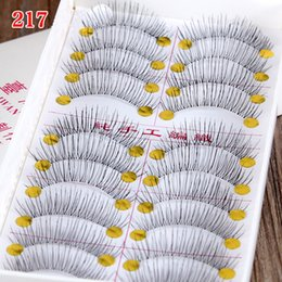 Wholesale Transparent Stem Eyelashes - New Taiwan Hand Made Fake Eyelashes Simulation Eyelashes Transparent Stems Naturally False Eyelashes for Women Ladies
