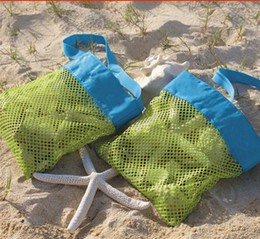 Wholesale Small Storage Compartments - Children Mesh Shell Bag Summer Beach Seashell Shell Tote Bag Shells Receive Bag Practical Storage Bags Shell Net Sand Away Beach Mesh Pouch
