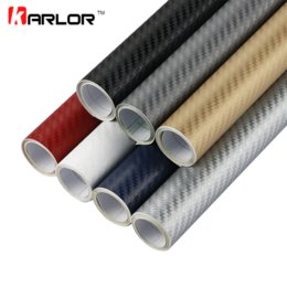 Wholesale 3m Vinyl Wrapping - 127cmx5cm Car Styling 3D 3M Carbon Fiber Sheet Wrap Film Vinyl Car Stickers And Decals Motorcycle Automobiles Car Accessories