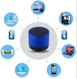 2019 amplificador de micrófono portátil S10 Bluetooth inalámbrico Mini altavoz portátil de manos libres Subwoofer Mic Estéreo Altavoz HI-FI Tarjeta TF Reproductor de música de audio para iphone samsung MP3