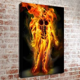 Wholesale Fantastic Paintings - (No frame) Fantastic Four Human TorchHD Canvas print Wall Art Oil Painting Pictures Home Decor Bedroom living room kitchen Decoration
