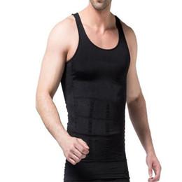 Wholesale Mens Tank Top Slim Fit - Wholesale- Hemiks Men's Tanks Slimming Body Shaper Vest Belly Buster Compression Tights Male Slimming Vests Men Fitted Vest Mens Tank Tops