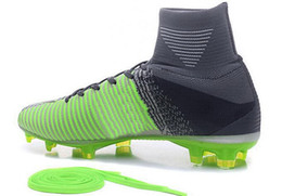 Wholesale Elite Football Boots - Assassin's eleven generation Elite Pack elite FG soccer shoes,Mercurial Superfly soccer boots,FG discount Cheap men Training Sneakers Cleats