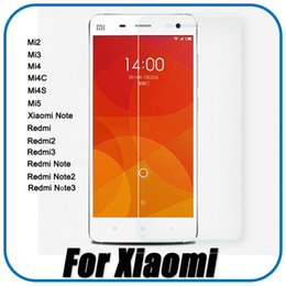 Wholesale Mi3 M3 - For Xiaomi Mi 5 4 4S 4C 3 2 Tempered Glass Screen Protector For Xiaomi Mi4 Mi5 Mi4C Mi4S Mi3 Mi2 Phone Protective Film Xiaomi Note +Package