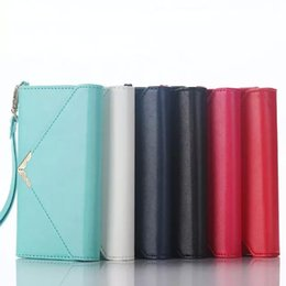 Wholesale Envelope Wallet For Iphone - Envelope For iPhone 6 6S 4.7inch 5.5 plus Wallet Cases Card Slot & Photo Frame PU Leather Case Phone Accessories Fashion Style