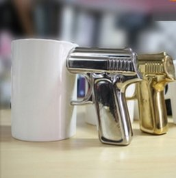 Wholesale Coffee Cup Pistol Handle - Free Shipping !!! Pistol Cup Handle Cup Gun Handle Coffee Cup Ceramic Mug help you get through Mondays