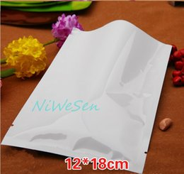 Wholesale White Aluminum Foil - 12x18CM, 200pcs pack X white aluminum foil plain bags-wholesale aluminized mylar dry fruit packing ping pocket, heat top open sealing bags
