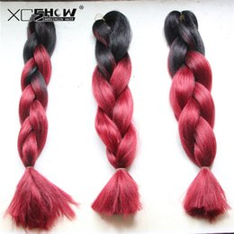 Wholesale Xpression Braiding Hair Wholesale - Xpression premium quality kenekalon braid synthetic hair braids 24inch 100g black brown purple grey braid 43 kinds color valid free shipping