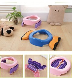Wholesale Portable Toilet Seats - Baby Infant Chamber Pots Foldaway Portable Toilet Training Seat Potty RingPotty Training Indoor & Outdoor Travel Set Free Liners