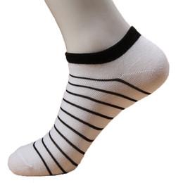 Wholesale Cool 3d Socks - Wholesale-5pair Cool 3d Socks Men Soccer Summer Lot Man Sport Socks Invisible Classic Mens Short Socks Boat Stripe Pattern 3 Colors Hot