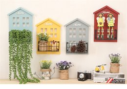 Wholesale Pot Hangers - Storage Holders Organizer Creative Potted plants House Wall Decor Wooden Home Products Sundries Jewelry Box Wall Hanger Decoration wholesale