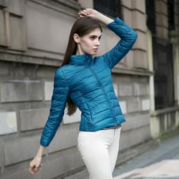 Wholesale Duck Down Jacket Womens - Wholesale-90% White Duck Down 2016 Womens Mujer Zipper Ultra Light Down Jackets Warm Winter Coat Parkas Women Thin Jacket