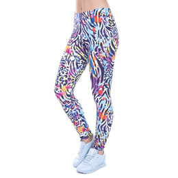 Wholesale Wild Pants - Women Legging Wild Dots Printed leggins for Women leggings High Waist Legins Woman Pants Stretch Leggings