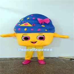 Wholesale Ice Mascot - New Ice Cream Shop Cone Mascot Costumes Fancy party Sale Adult size dress gifts