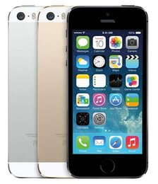 Wholesale Desbloqueado Apple iPhone S GB GB GB ROM IOS teléfono Blanco Negro Oro GPS GPRS A7 IPS LTE Teléfono celular Iphone5s