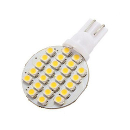Wholesale Light 921 - Wedge T10 24 SMD LED 194 921 W5W 1210 147 168 192 RV Light Lamp Bulbs White wholesale price