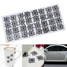 Wholesale Drop Shipping Bullet - Creative Bullet Hole Orifice Sticker Graphic Decal Shothole Car Auto Helmet Windows Drop Shipping CAR-0048
