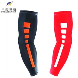 Wholesale Fitness Armbands - Wholesale-Fashion Basketball Armband Extended Fitness Sports Long Amy Sleeve Running Non-skid Section Protect Cycling Armguards